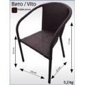 Плетен ратанов стол ВИТО