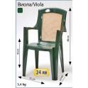 Зелени пластмасови столове за заведения