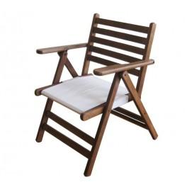 Дървен сгъваем градински стол