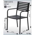 Метален стол АМ-СО15 антрацит