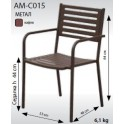 Стол от метал АМ-СО15 кафяв