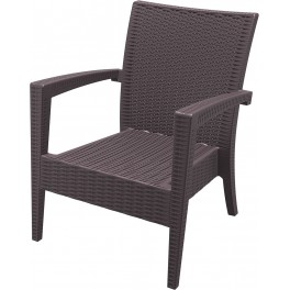 Кресло Маями - пвц отливка имитация на ратан