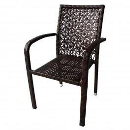Ратанов стол с подлакътници