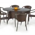 MASTER градинска маса от изкуствен ратан