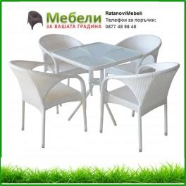 Градински ратанов комплект 220-341-2 бял ратан