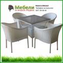 Ратанов комплект 350-45-1 бял ратан с възглавници