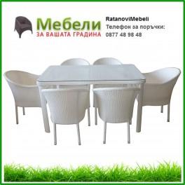 Ратанов комплект 350-341-2 бял ратан