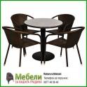 Градински маси и столове от ратан ВИТО 119