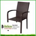 Стол за градина от кафяв ратан