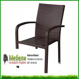 Стол за градина от кафяв ратан 59