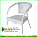 Градински стол 220 от бял ратан