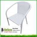 Стол от изкуствен бял ратан