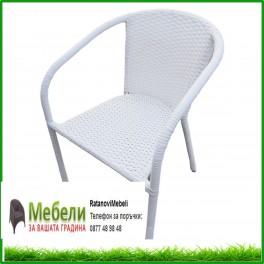 Стол от изкуствен бял ратан ВИТО