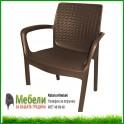 Градински стол имитиращ ратан