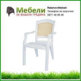 Пластмасов стол Модерн цвят бял