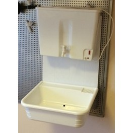 Умивалник Навесен комплект с водонагревател