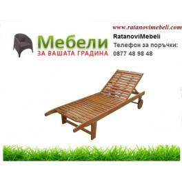 Шезлонг  дървен