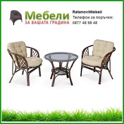 Мебели за градина от естествен ратан